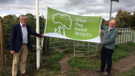 Ivel Springs in Baldock was among the green spaces in Hitchin, Royston, Letchworth and Baldock to receive a Green Flag...