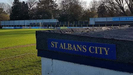 St Albans City will screen their FA Cup tie with Bishop's Stortford at Clarence Park.