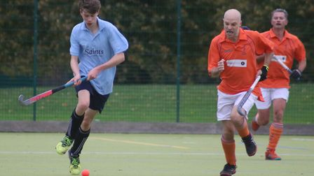 Ben Knights in action for St Neots against Nomads. Picture: TIM BETTSWORTH