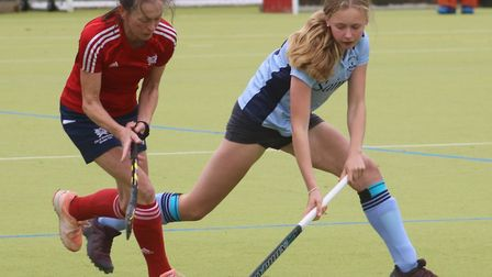 Olivia Corner in action for St Neots against Peterborough. Picture: TIM BETTSWORTH