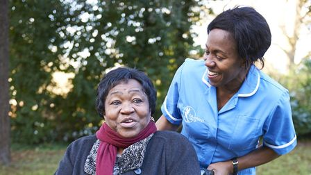 'Having a chat and a laugh with a friend can be the best medicine.' Picture: Bluebird Care