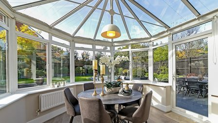"""Putting a round table in the conservatory """"really changed the whole feel of the space"""", according to Ellis Fields vendor..."""