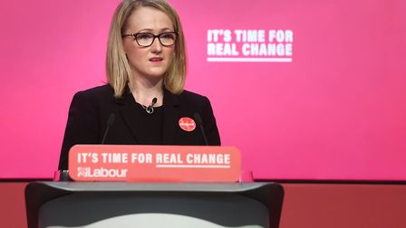 Shadow business secretary Rebecca Long-Bailey speaking during the launch of the Labour party manifes