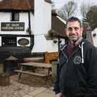 Ye Olde Fighting Cocks Landlord Christo Tofalli is cooking 200 meals for St Albans Food Bank. Picture: Danny Loo.