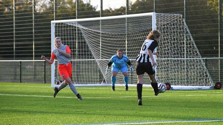 Oaklands Wolves took on Colney Heath Ladies Reserves in the Beds & Herts League. Picture: JAMES LATTER