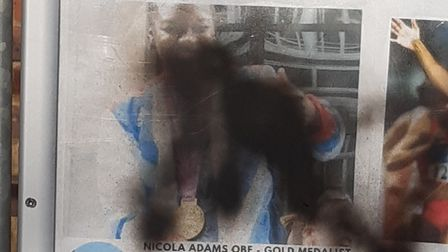 An exhibition celebrating Great Black Britons at Christchurch in Hitchin has been vandalised. Picture: Edward Selby