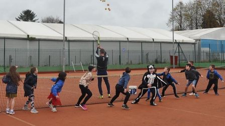 Youngsters got involved with a range of fun activities at Wisbech Tennis Club this half-term to mark Halloween. Picture...