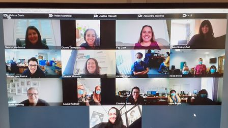 Members of the maternity team were able to watch the event via a group video call. Picture: East and North Hertfordshire...