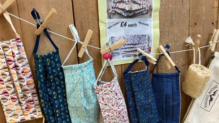 Locally made facemasks for sale in Letchworth's Bamboo Turtle: Picture: Plastic Free Letchworth