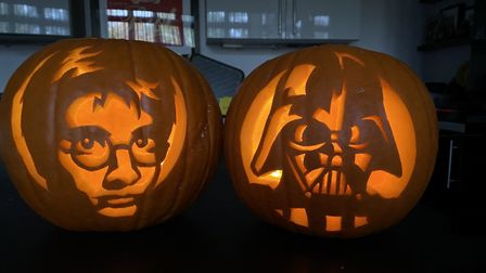 Matt has carved a marvellous creation every day of October in the run up to Halloween. Picture: Matt Hayday