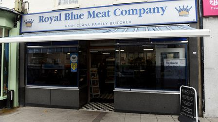 The Blue Meat Company on the Market Place in Wisbech is backing the shop local campaign. Pictures: Ian Carter