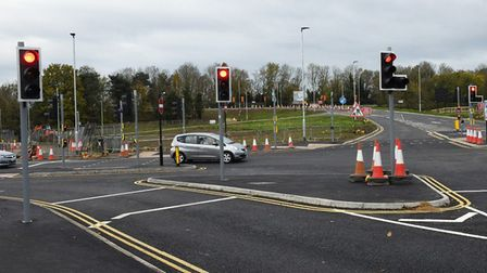 New Pathfinder Link Road has opened in Huntingdon this morning (Saturday).