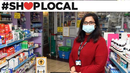Shop Local feature. Mina Patel at Fairbrother Pharmacy in Chruch Terrace, Wisbech. Pictures: Ian Carter