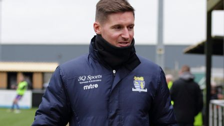 St Neots Town boss Barry Corr felt they would have won against Worksop Town even without the man advantage. Picture: DAVID...