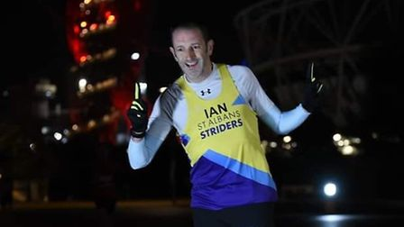Ian Hirth in action at the Chase the Moon 10K at the Olympic Park.