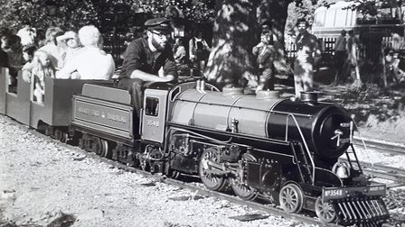 Driver Terry Hartga photographed around 1971. Picture: Audley End Miniature Railway