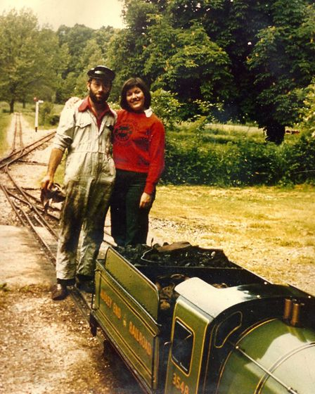 Audley End Miniature Railway driver Terry Hartga around 1973. Picture: Audley End Miniature Railway