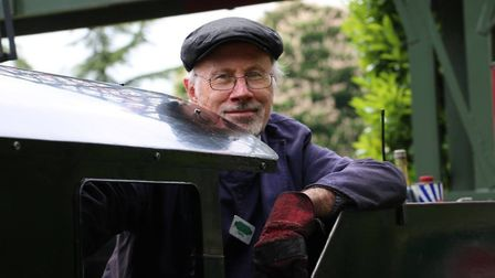 Railway driver Terry Hartga, driving Sara Lucy. Picture: Audley End Miniature Railway