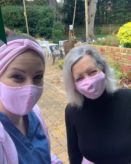 Mum and daughter Sue Board and Kelly Da Silva Fernandes held a coffee morning at The Banyers in Royston in aid of...