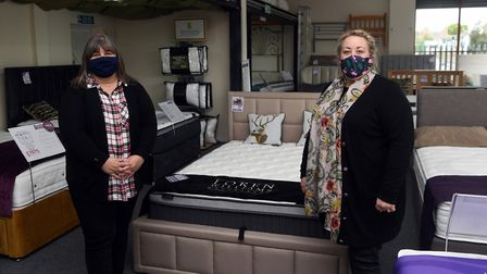 Teresa Berridge (L) and Vicki Richardson from the Bedtime Bed Centre in Wisbech. Pictures: Ian Carter