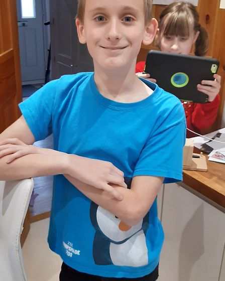 Sam has raised almost £1,500 for the Stroke Association after braving the shave. Picture: Corinna Preston