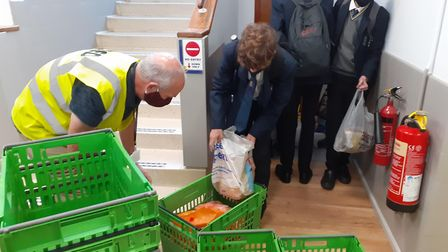 """""""Every year students from Verulam School excel at collecting items for FEED, and this year was no different."""" Picture..."""