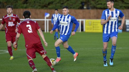 Eynesbury Rovers failed to score for the first time this season in their defeat to North Greenford United. Picture: DUNCAN...