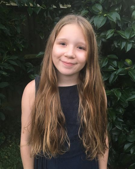Chloe Segrue, 10, has donated 14 inches of her hair to The Little Princess Trust, and raised enough funds to make her hair...