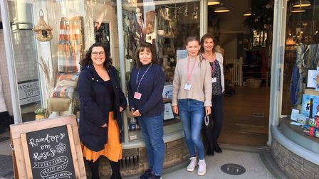 Members of the team at Raindrops on Roses in St Albans.