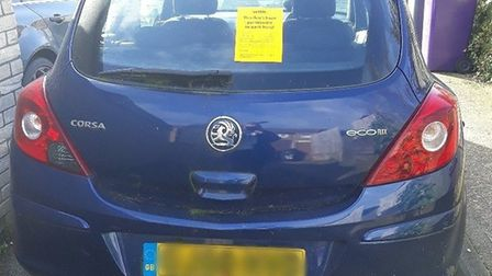 The owner of a Vauxhall Corsa has been fined more than £500 after abandoning car on private land in Letchworth. Picture: NHDC