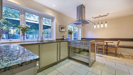 The kitchen/breakfast room overlooks the garden. Picture: Frost's