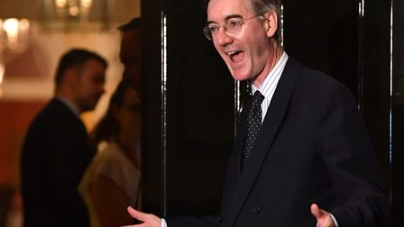 Jacob Rees-Mogg arrives at Number 10, Downing Street. (Photo by Jeff J Mitchell/Getty Images)
