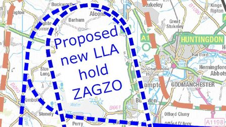 New 'holding stack' proposed above Huntingdon could cause huge potential noise PICTURE: London Luton Airport
