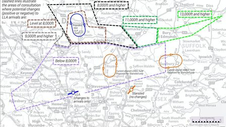 Plans to change the flight path into Luton airport are open for consultation. Picture: LLA and NATS