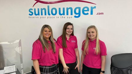 Sunlounger Travel in Wisbech (L-R Harriet Clarke with employees Serena and Abi) have launched a toy appeal in aid of The...