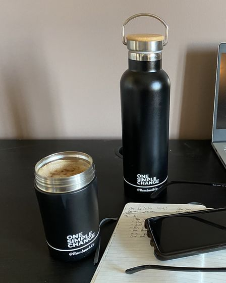 The Water Bottle and Coffee Mug have been handy additions when working from home. Picture: Archant