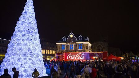 Peterborough's loss in Wisbech's gain as this spectacular - but controversial- Christmas tree is now owned by Wisbech Town...