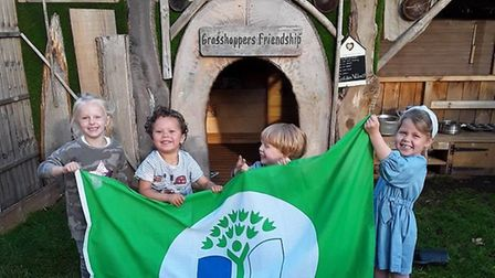 Grasshoppers Day Nursery in St Albans was recognised for its environmental efforts by Eco-Schools. Picture: Grasshoppers...