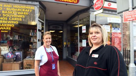 Shop Local feature. Tracy Young (L) has taken over the cafe in Etcetera and Kerry Elkins (R) is the new postmistress.