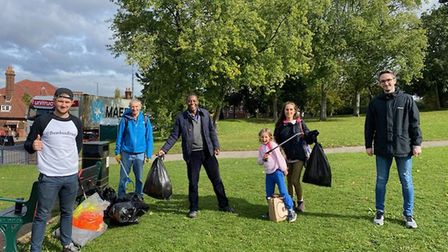 The Comet's final litter pick for September, as part of Hitchin Hates Litter. Picture: Supplied