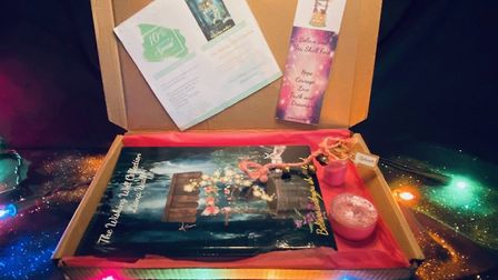 The Magical Christmas Gift Box for Liana Wall's book Believe and You Shall Find.