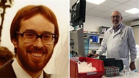 John Pickersgill in 1981 and the present day.