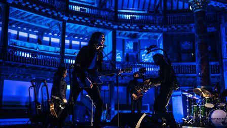 Shakespeare's Globe came alive with light and music as James Bay and his band played their live-streamed concert there on Wed...