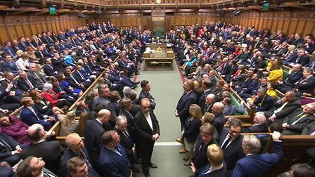 Members of Parliament return to the House of Commons, London, after the Conservative Party gained an