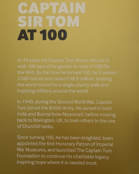 The Captain Sir Tom at 100 display at IWM Duxford. Picture: Gerry Weatherhead