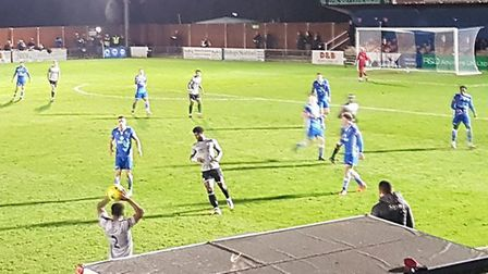 St Albans City travelled to Bishop's Stortford for an FA Cup fourth qualifying round tie.