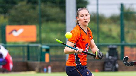 Action from St Albans Hockey Club's second team. Picture: CHRIS HOBSON WEDDINGS