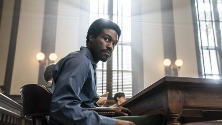 Yahya Abdul-Mateen II as Bobby Seale in The Trial of the Chicago 7. Picture: Niko Tavernise/NETFLIX 2020