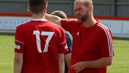 Wisbech Town boss Brett Whaley and chairman Paul Brenchley have issued a rallying call to supporters. Picture: DAN MASON