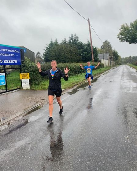 Runners took part in the Virtual Herts 10K and Half Marathon.Kerry Morgans.
